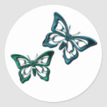 Blue Butterfly Designs Sticker