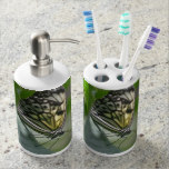 Butterfly Beauty Soap Dispenser & Toothbrush Holder