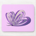 Butterfly Heart Design Mouse Pad