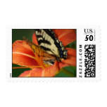 Butterfly on Lily Postage
