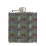 Natural Butterfly Hip Flask