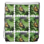 Winged Butterfly Drawstring Backpack
