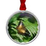 Winged Butterfly Metal Ornament